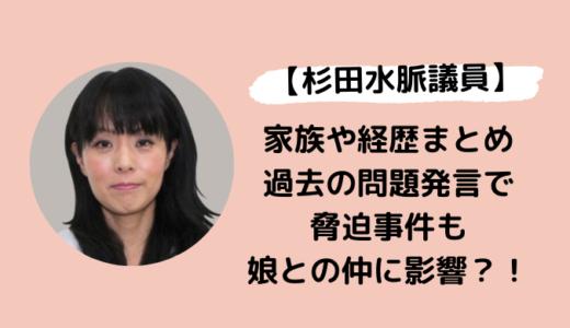 杉田水脈の夫や子供・経歴まとめ!過去の問題発言で脅迫され娘とは不仲?!