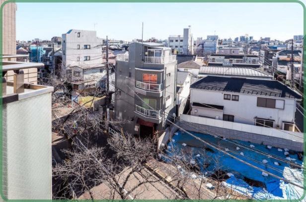 ルクラス碑文谷伊勢谷友介自宅ベランダからの眺め