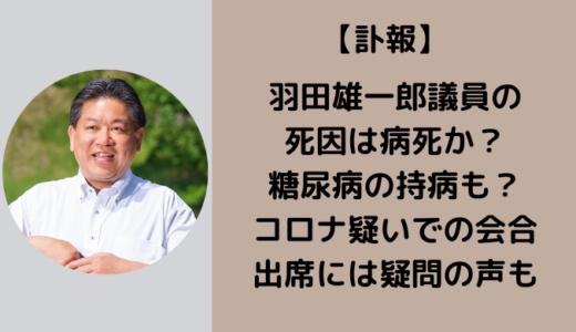 羽田雄一郎の死因はコロナ死で糖尿病の持病が?!12月23日には長野で会合に出席