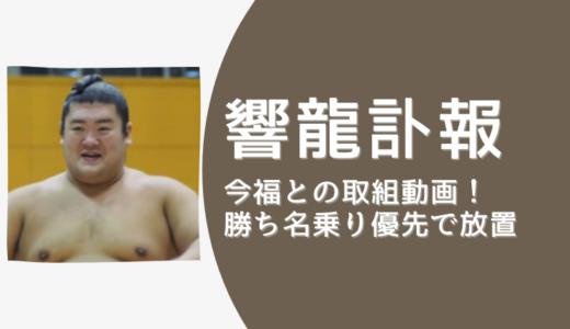 力士・響龍と今福の取組動画!勝ち名乗り優先で放置の相撲協会に人命軽視・人災と批判の声