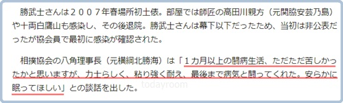 響龍訃報|八角理事長のコメントが他人事で違和感!コロナで亡くなった勝武士と同文!